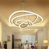 Скандинавские светодиодные лампы современные минималистские кольца индивидуальный ресторан спальня гостиная домашний светильник люстра
