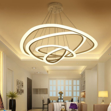цены Nordic led lamps modern minimalist ring personality restaurant bedroom living room home lamp chandelier