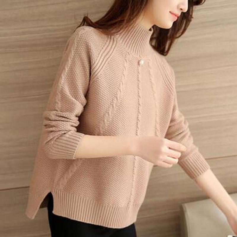 женская водолазка вязаный свитер женский вязаный 2017 демисезонный