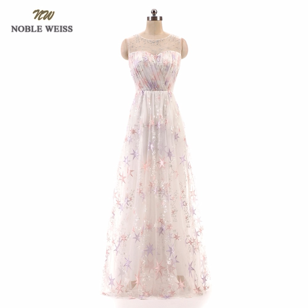 NOBLE WEISS   Prom     Dress   High Quality Customized Fashion O-Neck A-Line Floor-Length Lace Pleat Hot Party Gown   Dresses