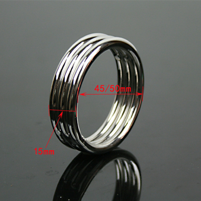 thickness 5mm stainless cock ring delay ejaculation penis ring metal male sex scrotum ring cockring sex product sex toys for men