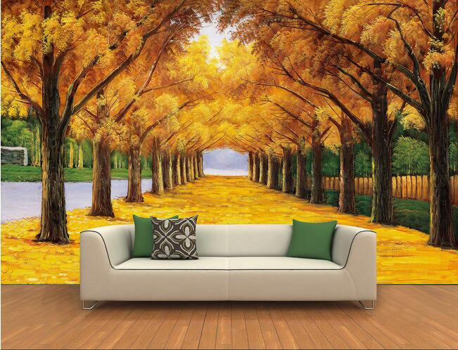 3d wallpaper custom mural non woven 3 d paths on both sides of