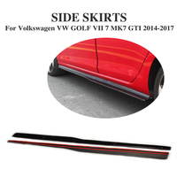 Carbon Fiber Car Side Skirts Aprons for Volkswagen VW Golf 7 VII MK7 Hatchback GTI Only 2014 2017 Car Tuning Parts