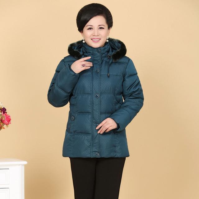 2016 nuevo invierno mujeres abrigo acolchado parka corta delgada gruesa chaqueta con capucha más tamaño madre ropa XL-4XL DX315