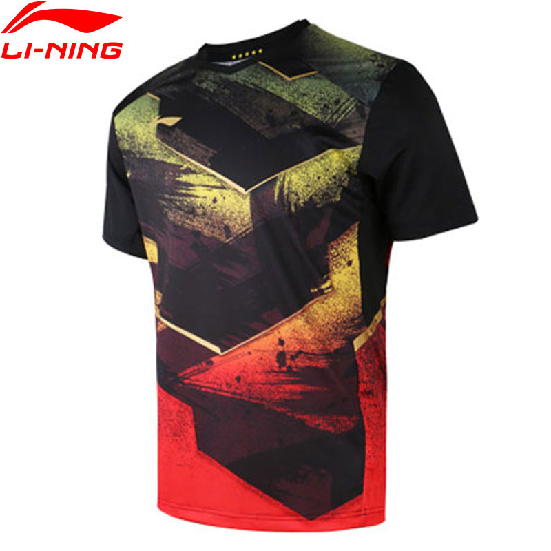 Li-Ning Men Table Tennis T-shirt AT DRY National Team Sponsor Breathable LiNing Competition Sports T-shirts Tops AAYN297 MTS2903(China)