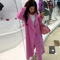 ( custom ) cachemira visón moda párrafo largo abrigo