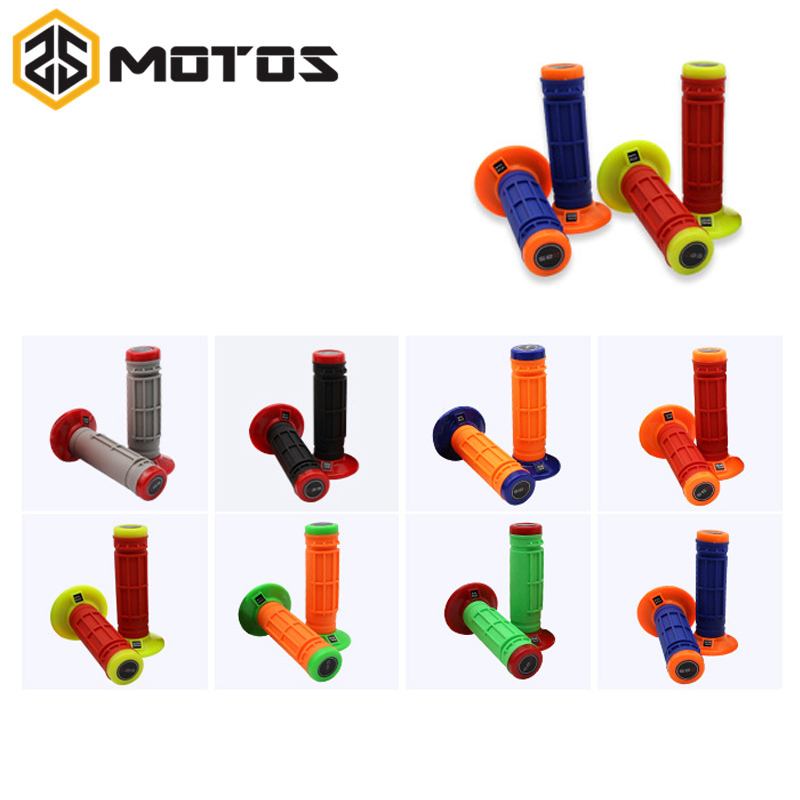 ZS MOTOS 8 colors Motorcycle grips Motocross grip handle bar DIRT PIT BIKE MOTOCROSS 7/8 HANDLEBAR RUBBER Dual Density MX Grips