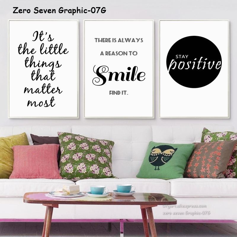 Black And White Inspirational Phrase Canvas Painting
