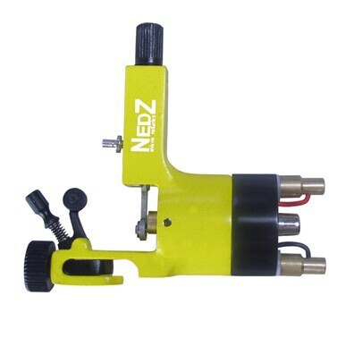 ФОТО Professional NEDZ Style Rotary tattoo machine Gun Liner Shader U Pick yellow  for tattoo kit needles grip Supply