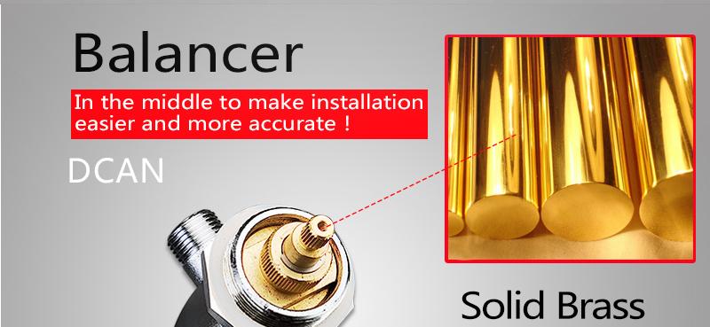 DCAN Bathroom Thermostatic Mixer Valve Brass Chrome Finish Shower Faucet Mixer Valve 3-4 Ways Faucet Bath Faucet Accessories (16)