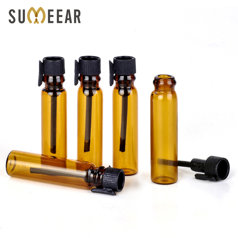 Wholesale 100Pieces/Lot 1ml Perfume Glass Dropper Bottle For Essential Oils Empty Perfume Bottles Travel Container For Sample