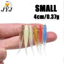 10 шт. в пакете 4 см 0,37 г мягкие прозрачные маленькие рыбы приманка личинка приманки для корней рыболовные снасти