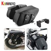 Waterproof Cruiser Motorcycle Saddlebag Leather Side Luggage Bag For Sportster For Honda shadow For Vulcan 2006 For Yamaha Vstar