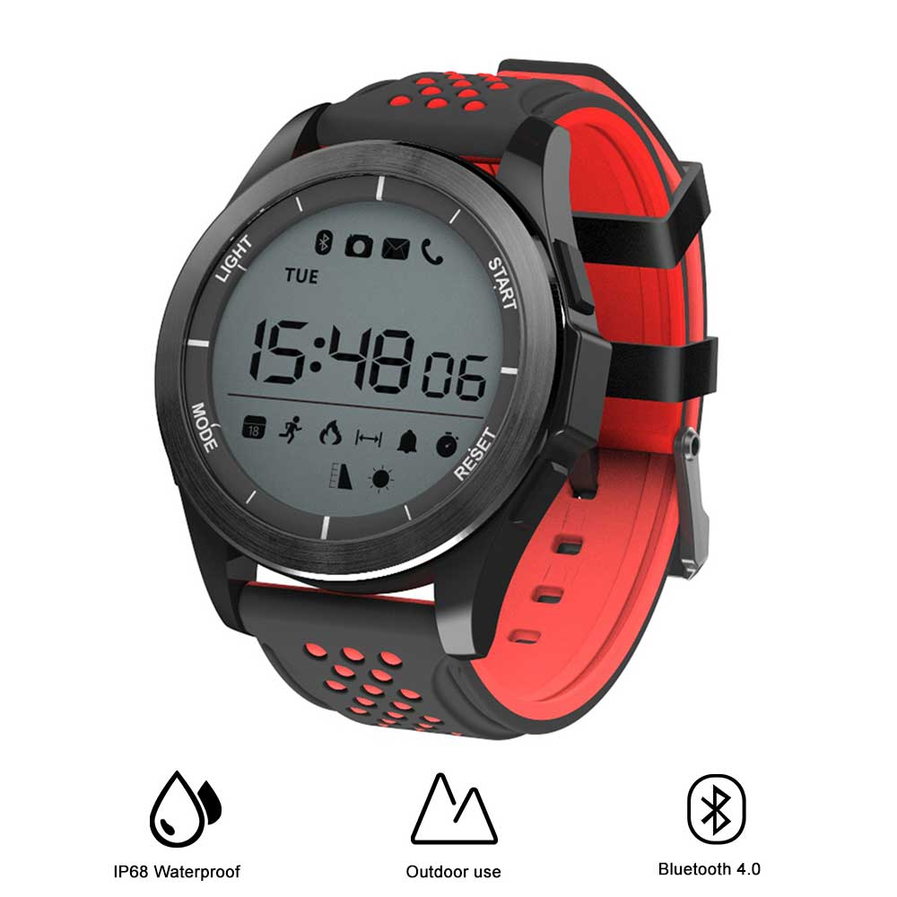 NO.1 F3 Sports Smartwatch Bluetooth 4.0 IP68 Waterproof Remote Camera Pedometer Outdoor Mode Fitness Tracker Reminder image