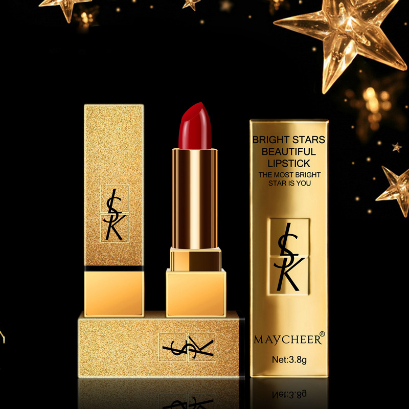 Sexy Luxury Lipstick Waterproof Makeup Batom Brand Matte -7539