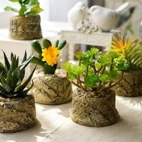 Decorativi in resina fiori per il bar, camera da letto, libreria, soggiorno, non svanisce la vita, simulato pianta, 2 bacino di pianta un sacco