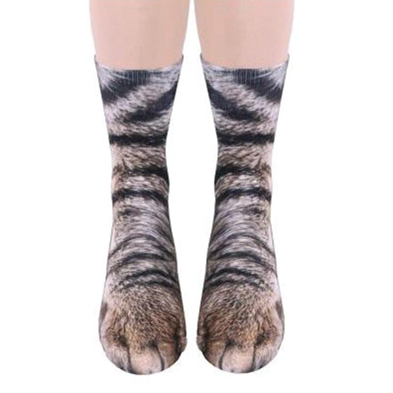 2018 Neue 3d Drucken Tier Fuß Huf Pfote Füße Crew Socken Kinder Baby Digitalen Simulation Socken Unisex Tiger Hund Katze Socke