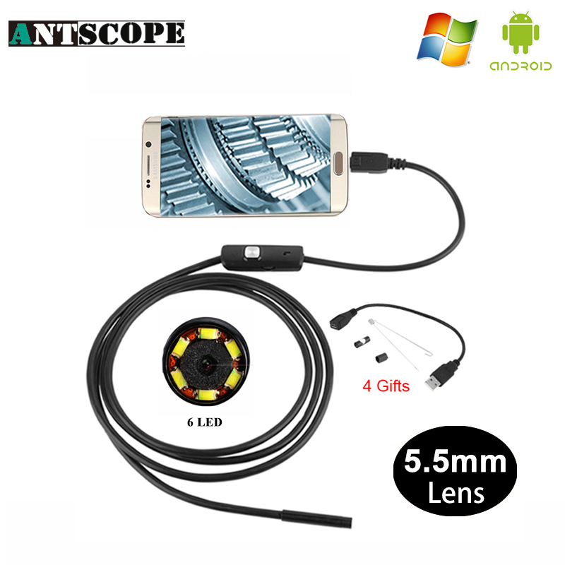 Antscope Usb Endoskop Kamera Android 5.5mm 1/2/3,5 M Schlange Rohr PC Android HD Rohr Kanalisation Inspektion kamera Endoscoop Borescope29