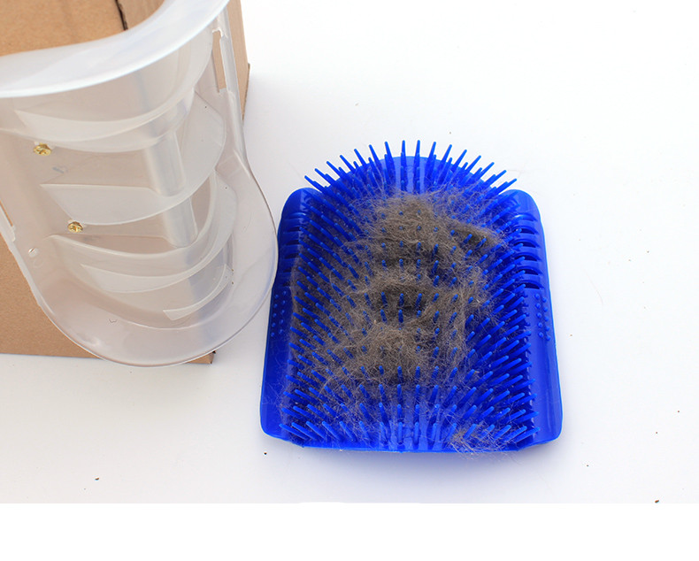 Cat Self Groomer with Catnip for Combing Scratching and Removing Extra Hair from Cat Body