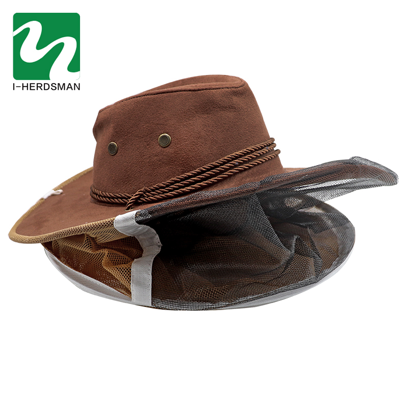 Beekeeping Hat Export-Oriented Beekeeping Tool Model Cowboy Bee Preventing Cap Bee Hat Classic Shape Bee Breeding Free Shipping