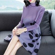 Azterumi robe plissée spéciale femme, nouveauté, nouveauté, mode, grande taille, col, montant à pois, Mini robe plissée miyak