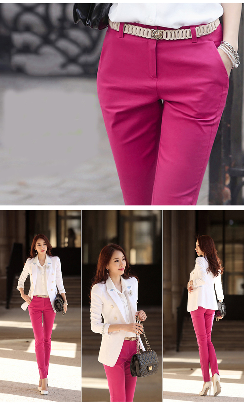 S-4XL Big Size Womens formal office Pencil Pants 2020 New Elegant Ladies Office Work Pants Casual Elastic Cotton Trousers Women