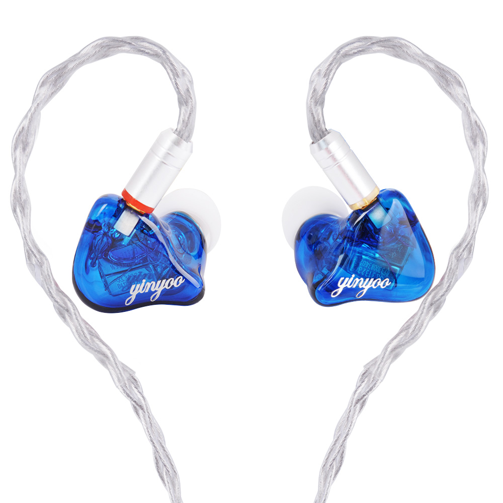 Yinyoo HQ6 6BA Custom Made in Ear Earphone Balanced Armature Around Ear Earphone Headset Earbuds With 2.5/3.5/4.4 MMCX Plug цена