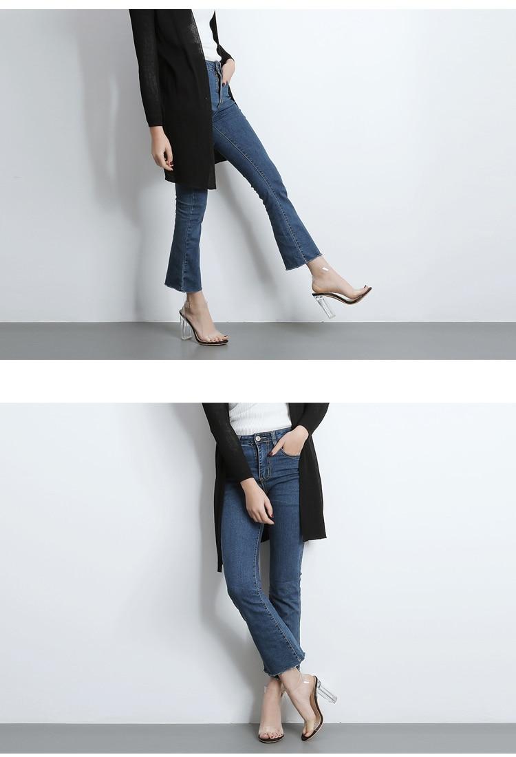 HTB1HovhXbrpK1RjSZTEq6AWAVXaI Eilyken 2019 PVC Jelly Sandals Crystal Leopard Open Toed High Heels Women Transparent Heel Sandals Slippers Discount Pumps 11CM