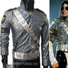 MJ MICHAEL JACKSON DANGEROUS TOUR JAM JACKET & CINTURE SET Pro Series Per Il Regalo Perfomance Imitazione di Halloween