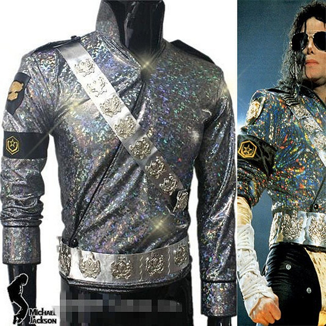 MJ MICHAEL JACKSON อันตรายทัวร์ JAM แจ็คเก็ตและเข็มขัดชุด   Pro Series สำหรับของขวัญ Perfomance เทียมฮาโลวีน