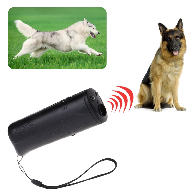 3 in 1 Ultrasonic Anti Bark Stop Barking Dogs Training Repeller Control Trainer