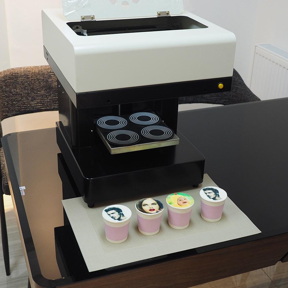 High speed 4 cups selfie coffee printer 3d machine for ...