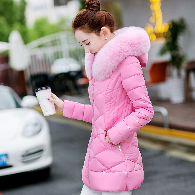 Long Parka gray pink Femmes 2017 black light Slim Nagymaros H215 light Blue Hiver Manteau Col Veste Mi Épais Beige Powder Coton XwZOPkiuT