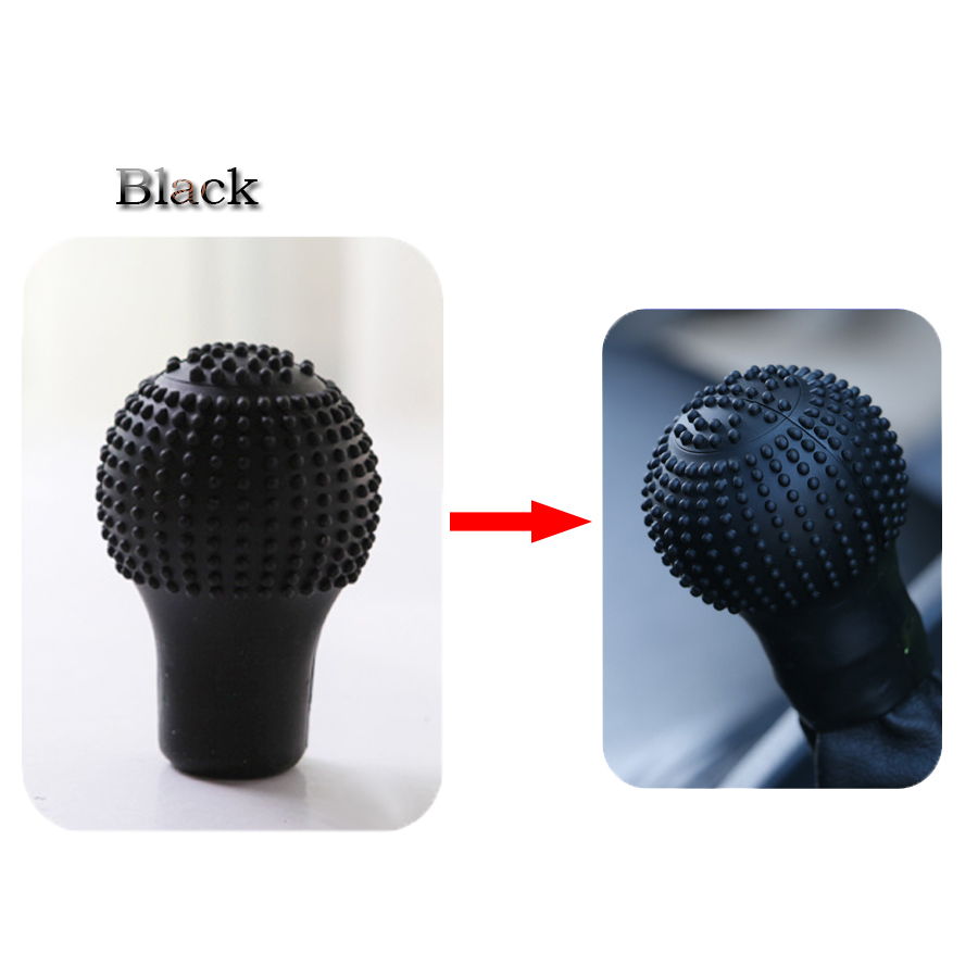 Car Round Bump Black Silicone Nonslip Lever Gear Shift Knob Cover Seat Covers & Accessories Seat Covers & Accessories