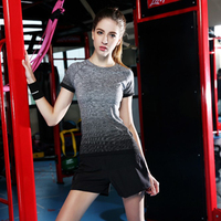 Summer Gym Striped Compression Shirts Women S Sport T Shirts Dry Quick Running Short Sleeve T