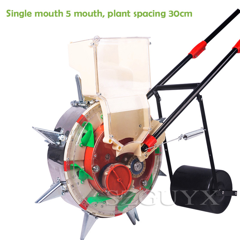 Multi-function Hand-push Seeder, Corn, Cotton, Soybean Peanut Planter, Film-pressing Machine, Seed Planting Tool
