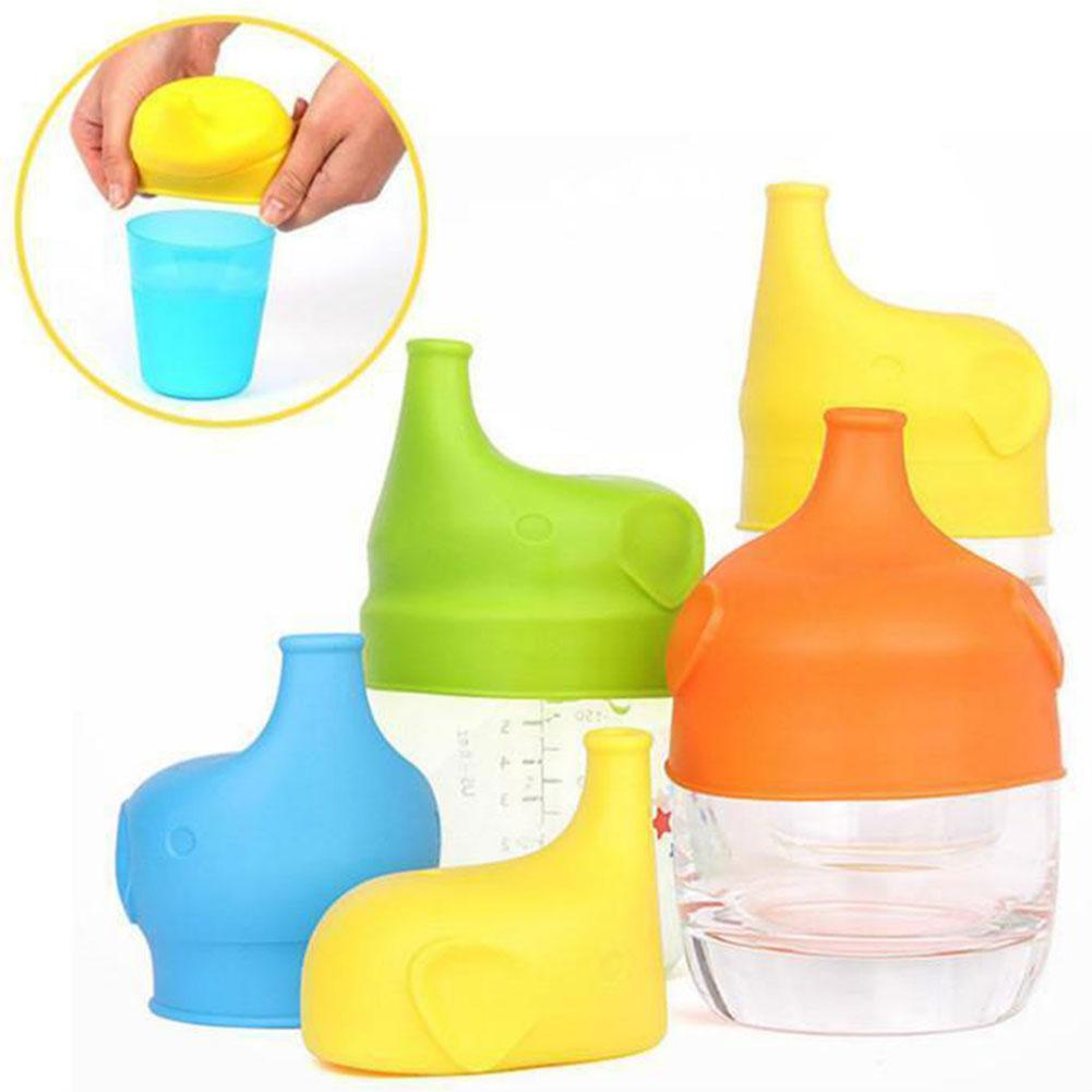 Hot Kid Toddler Baby Portable Spill-Proof Elephant Silicone Reusable Cup Cover Lid