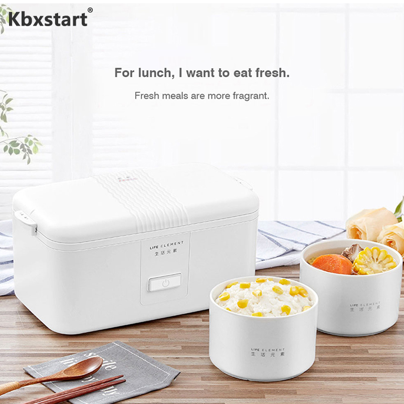 Kbxstart  Mini Portable Multi-function Electric Heating Lunch Box Ceramic Liner Sealed Fresh-keeping Cooking Rice Box 220VKbxstart  Mini Portable Multi-function Electric Heating Lunch Box Ceramic Liner Sealed Fresh-keeping Cooking Rice Box 220V