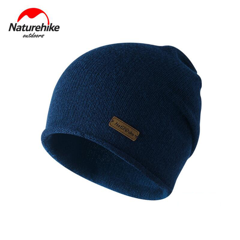 Naturehike Winter Hat Wool Knit Beanies Warm Camping Outdoor Travel Hiking Cap Women's Men's Windproof Hats Sports Winter Caps xthree winter wool knitted hat beanies real mink fur pom poms skullies hat for women girls hat feminino