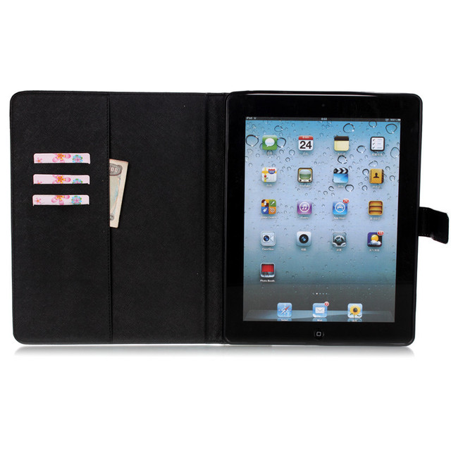 For Cover Apple iPad 2 iPad 3 iPad 4 case Smart PU Leather Tablet Case