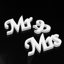 Modern Mr and Mrs Letters White Sign Stand Top Table Centerpiece Wedding Decoration Wooden Letters Wedding Sign Mariage Decor