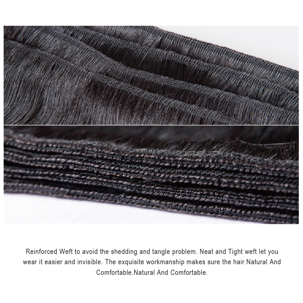 Mslove 360 Lace Frontal With Bundles Peruvian Straight Hair 2 - Skönhet och hälsa - Foto 4