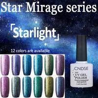 Starlight Series 12 Colour UV Gel Nail Polish Chameleon Gel UV Magnetic Nail Polish Need Black Base Coat Nail Glue