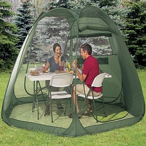 Ultralarge single layer automatic 5 8 person garden beach camping tent sun shelter large gazebo