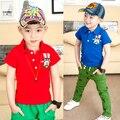 2017 summer poloboy children shirt male child short-sleeve print baby boys poloshirt summer top