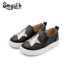 Children Shoes Boys Loafer Kids Sneakers 2019 Spring Autumn Moccasin Girls Toddler Baby Pu Leather Star Girl