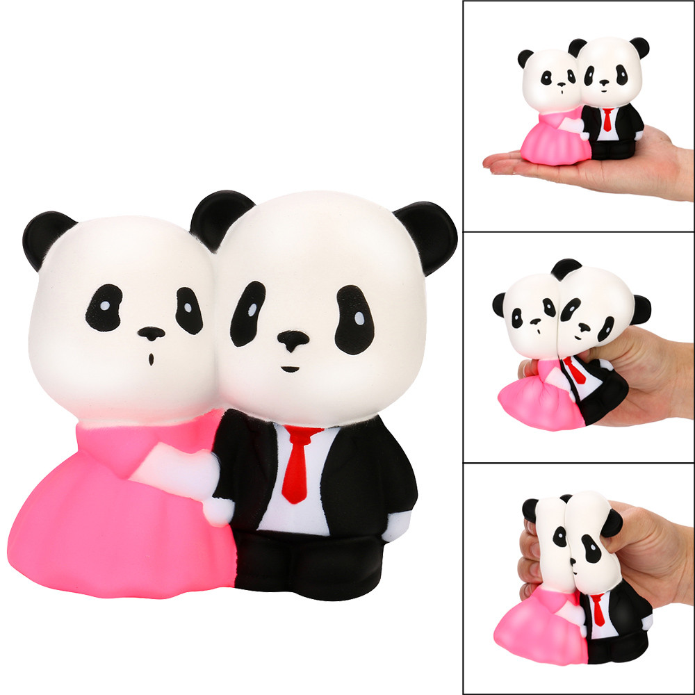 Funny Jumbo Squishy Super Wedding Panda Super Slow Rising Squeeze anti stress soft toys Gift New arrival 2018
