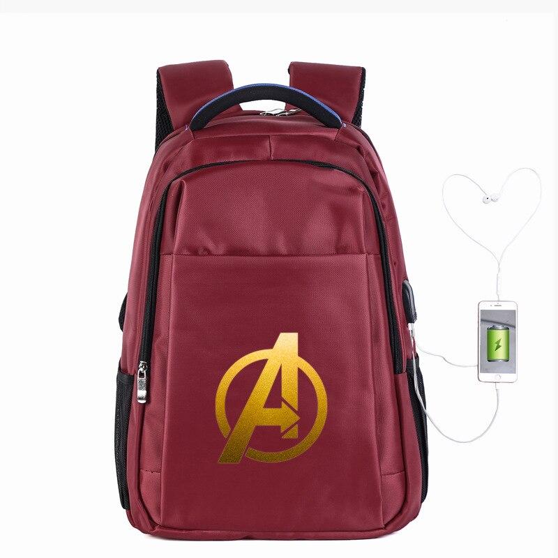 Avengers Comic Heroes 19 นิ้วกระเป๋าเป้สะพายหลังแล็ปท็อปกระเป๋าเป้สะพายหลังกระเป๋าเดินทางกระเป๋าหนังสือ Rucksack Day Pack กระเป๋าขนาดใหญ่ USB พอร์ตหูฟังหลุม-ใน กระเป๋าเป้ จาก สัมภาระและกระเป๋า บน AliExpress - 11.11_สิบเอ็ด สิบเอ็ดวันคนโสด 1