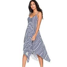 Women's Deep V Neck Sexy Fit and Flare Dress Spaghetti Strap Casual Party Summer Beach Dresses vestidos de festa