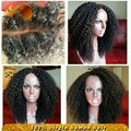 Brazilian Virgin Hair Afro Kinky Curly Full Lace Wig Bleached Knots Glueless Lace Front Human Hair Wigs For Black Women